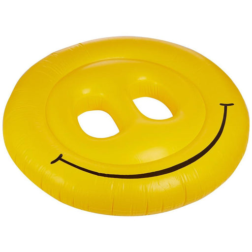 "Inflatable Pool Toys Swimline Smiley Face 72"" Inflatable Pool Island - Grizzly Supply Co"