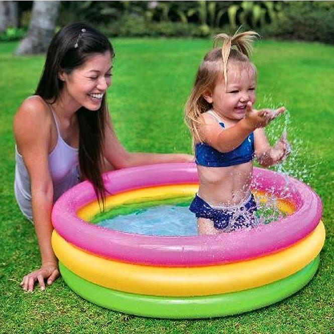Intex Sunset Glow 3 Ring Inflatable Baby Pool