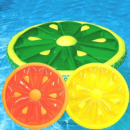 Inflatable Pool Toys Swimline Fruit Slice Inflatable Pool Island Float - Grizzly Supply Co