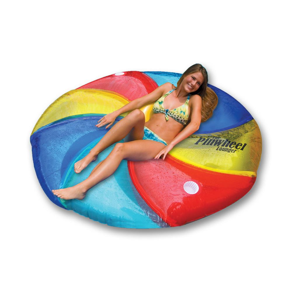 Inflatable Pool Toys Swimline Pinwheel Island Inflatable Lounger - Grizzly Supply Co