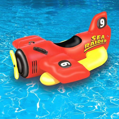 Inflatable Pool Toys Swimline Sea Raider Sea Plane Pool Ride On - Grizzly Supply Co