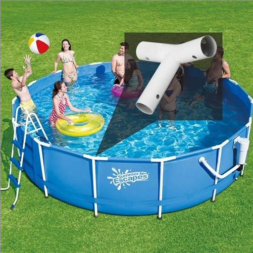 Summer Escapes & Summer Waves Tee Fitting for 12 Ft Diameter Frame Pools
