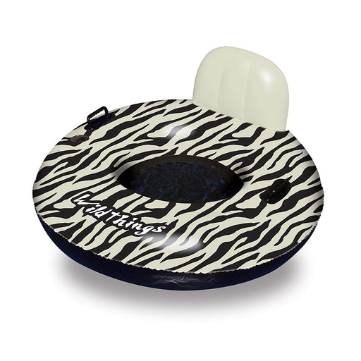 "Wild Things Zebra Inflatable 40"" Ring Tube Pool Lounge"
