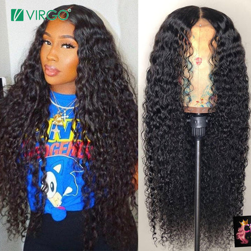 Peruvian Curly Human Hair Lace Front Wig
