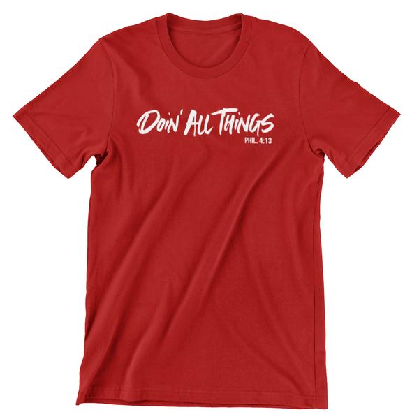 Doin' All Things Red Tee
