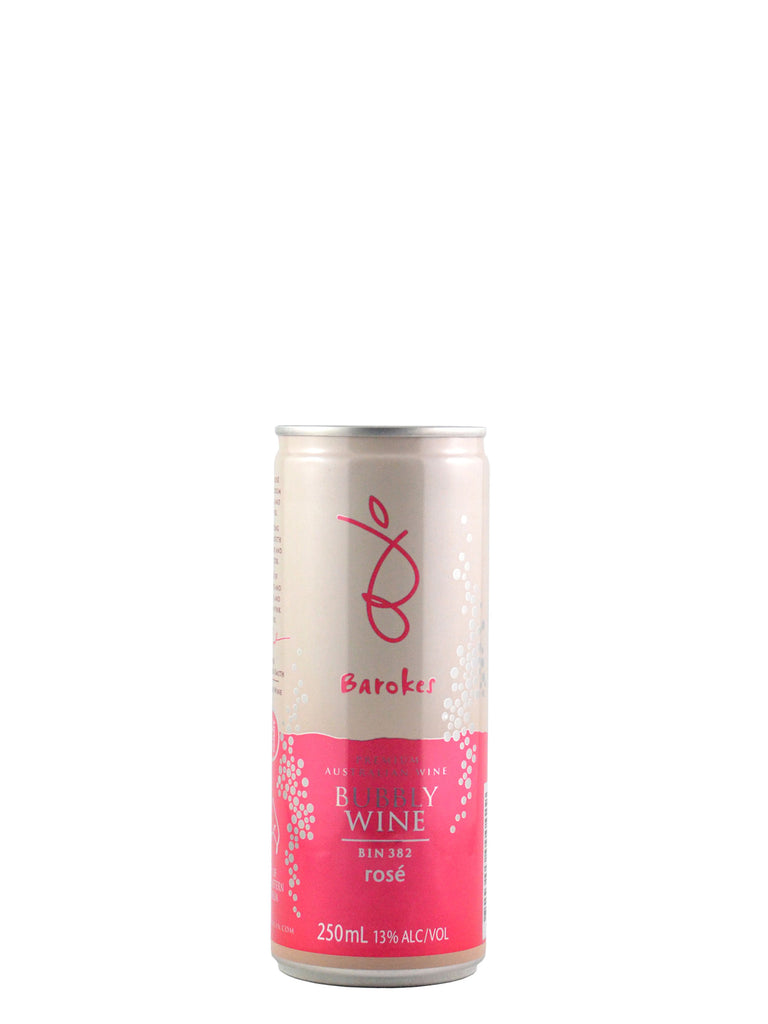 Barokes Bin 382 Bubbly Rosé 250ml can