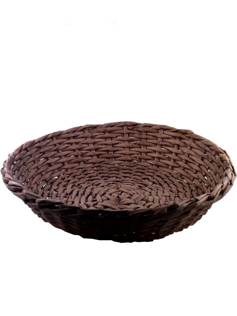 Low Round Tray Basket (empty - add a bottle!)