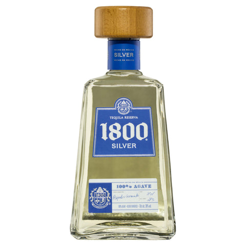 1800 Silver Tequila Blanco is made from 100% Weber Blue Agave which is then aged for 8-12 years and harvested at their peak.