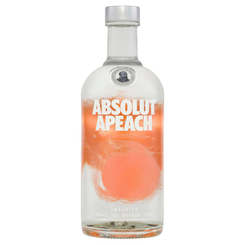 Absolut Apeach Vodka is made from natural ingredients, the main ingredients being water, winter wheat and peaches.
