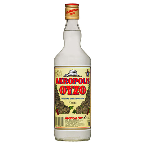 Akropolis Ouzo is a traditional ouzo with spices including anise, mastic and bandiane which are then combined to create the distinctive rich ouzo characters.