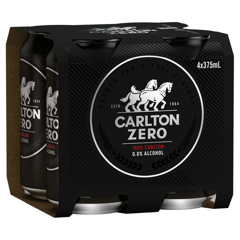 Carlton Zero Cans 375ml
