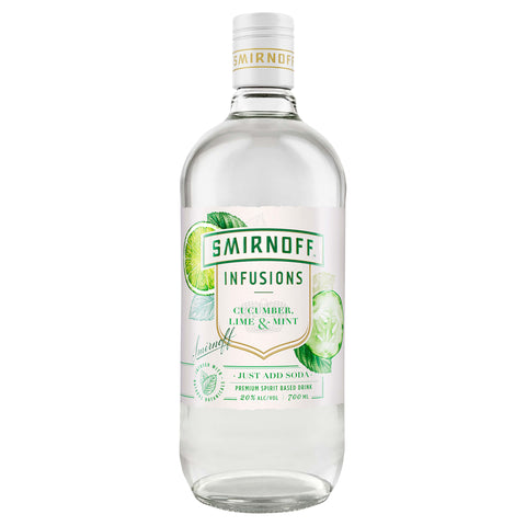 Smirnoff Infusions Cucumber, Lime & Mint 700ml