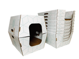 BIODEGRADABLE LITTER BOXES - 10 PACK WHITE/MINT - Cats Desire Disposable Cat Litter Boxes