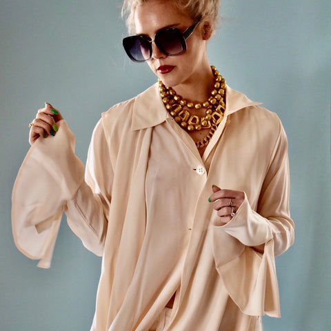 Billowy Cream Blouse SOLD