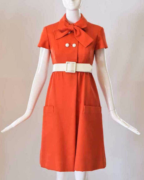 1960s Geoffrey Beene Red Dress