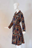 1970s Belted Printed Dress