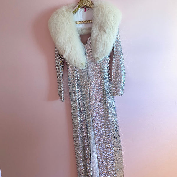 Silver Sequined Dress