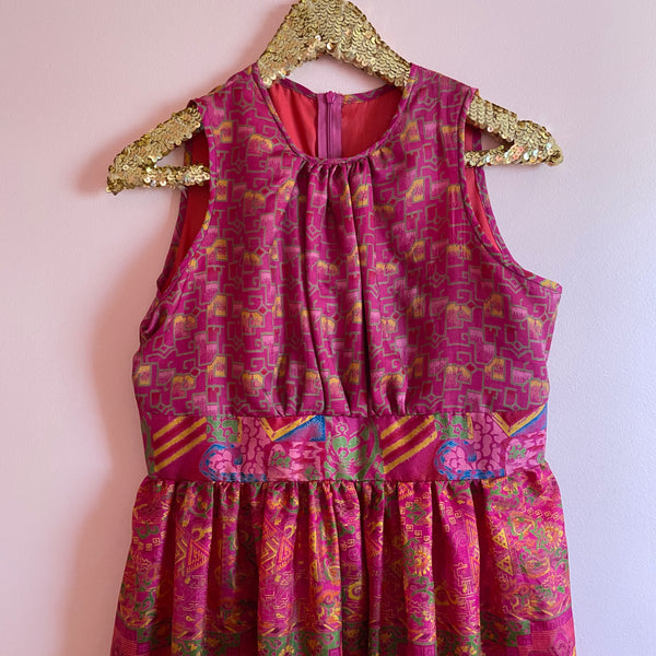 Cheeky Upcycled Flowy Dress SOLD