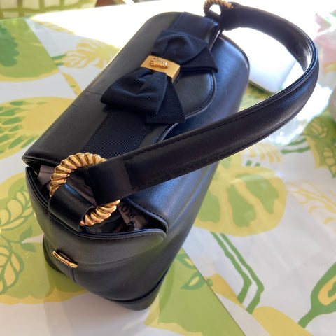 Black Bow Detailed Handbag