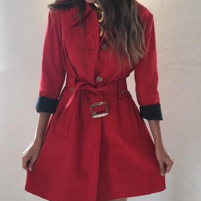 Vintage London Fog Red Classic Trench Coat - SOLD