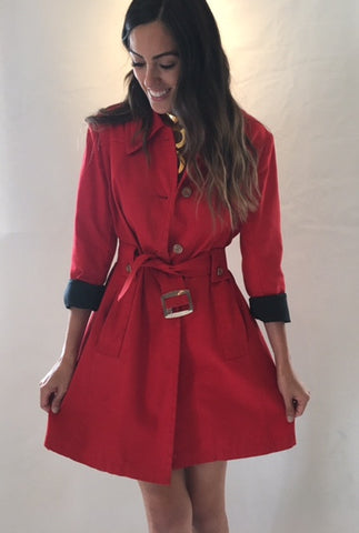 Vintage London Fog Red Classic Trench Coat