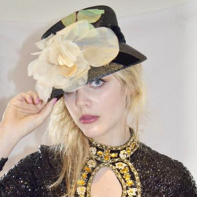 Darling Hat with Cream Blossom