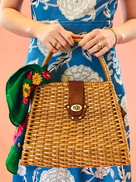 Structured Straw Bag SOLD
