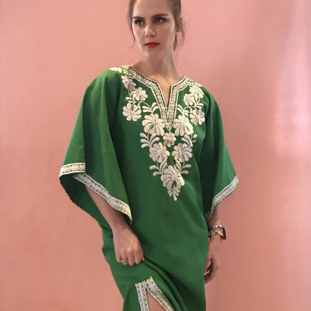 Spring Green Embroidered Maxi SOLD