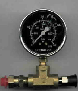 Airless Pressure Gauge 0-5800 psi