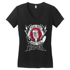 You Are What You Rock Women's Black Tee
