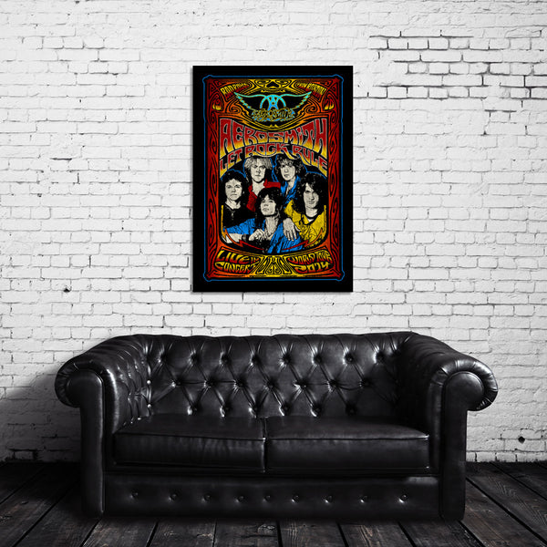 Aerosmith Live In Concert Canvas Wrap
