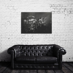 KISS Live Black & White Photo Canvas Wrap