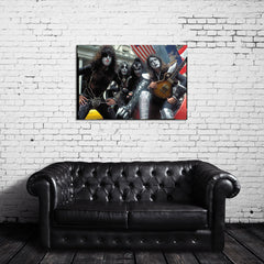 KISS Color Vintage Photo Canvas Wrap