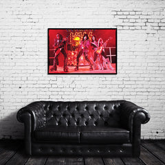 KISS Color Vintage Live Photo Canvas Wrap