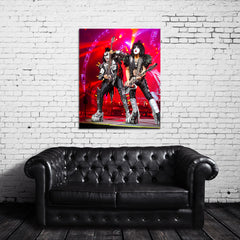KISS Live Color Photo Canvas Wrap