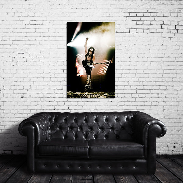 Paul Stanley of KISS Live Color Photo Canvas Wrap