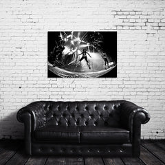 KISS Live Photo - Paul Stanley Jumping - Canvas Wrap