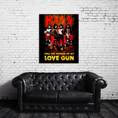 KISS: Pull The Trigger Of My Love Gun Canvas Wrap