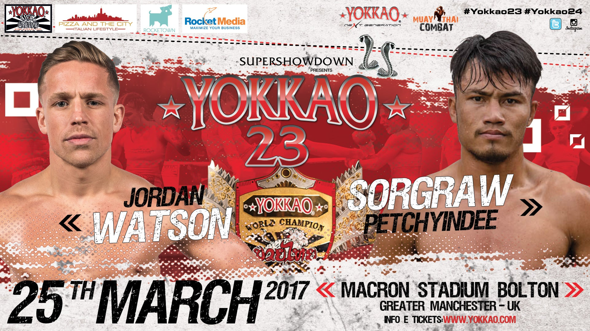 Jordan Watson to defend the World Title against Sorgraw Petchyindee!