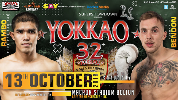 Nathan Bendon Replaces Liam Harrison for YOKKAO 32