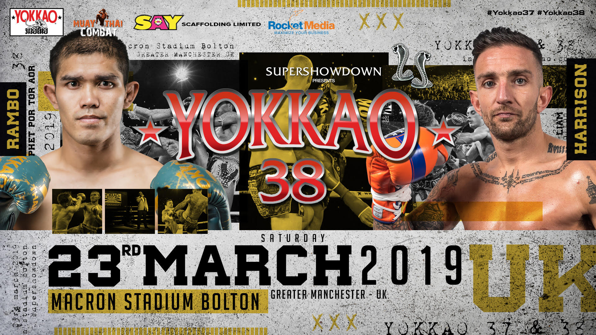 Liam Harrison vs Rambo Back On For YOKKAO 38