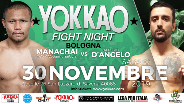 Manachai Steps In to Co-Headline YOKKAO Fight Night Bologna