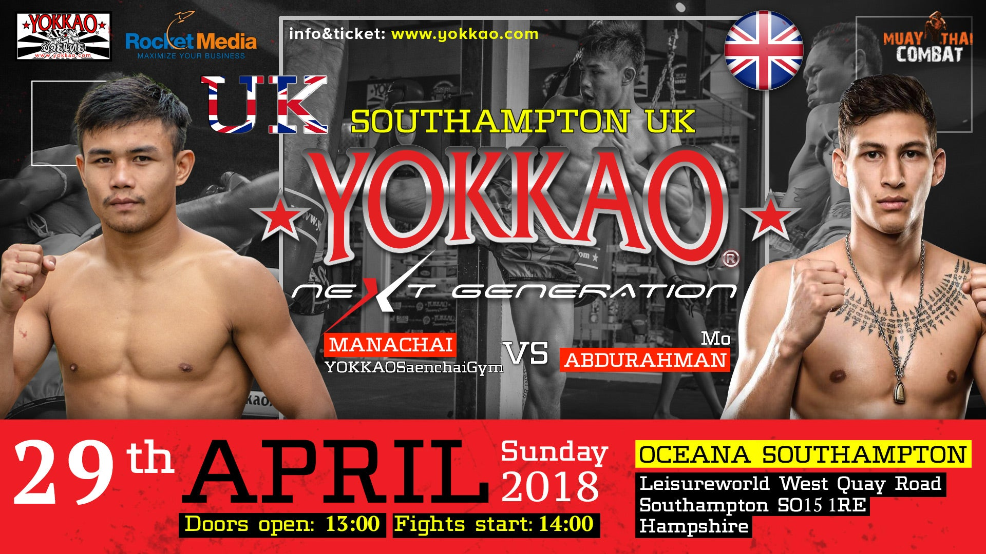 Manachai Faces Rising Kickboxing Star Mo Abdurahman in UK