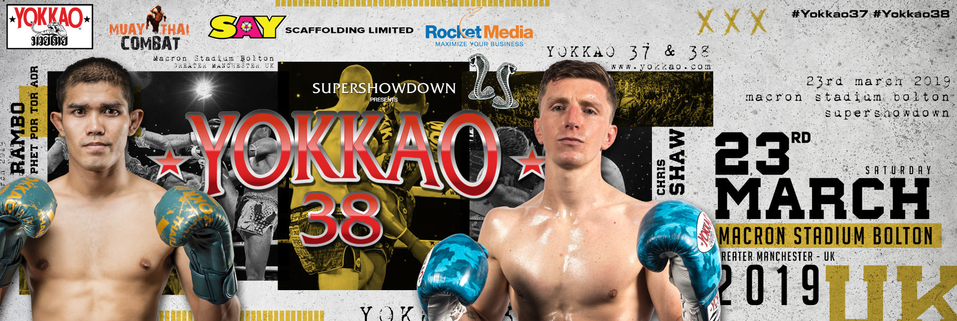 YOKKAO 38 Muay Thai Results