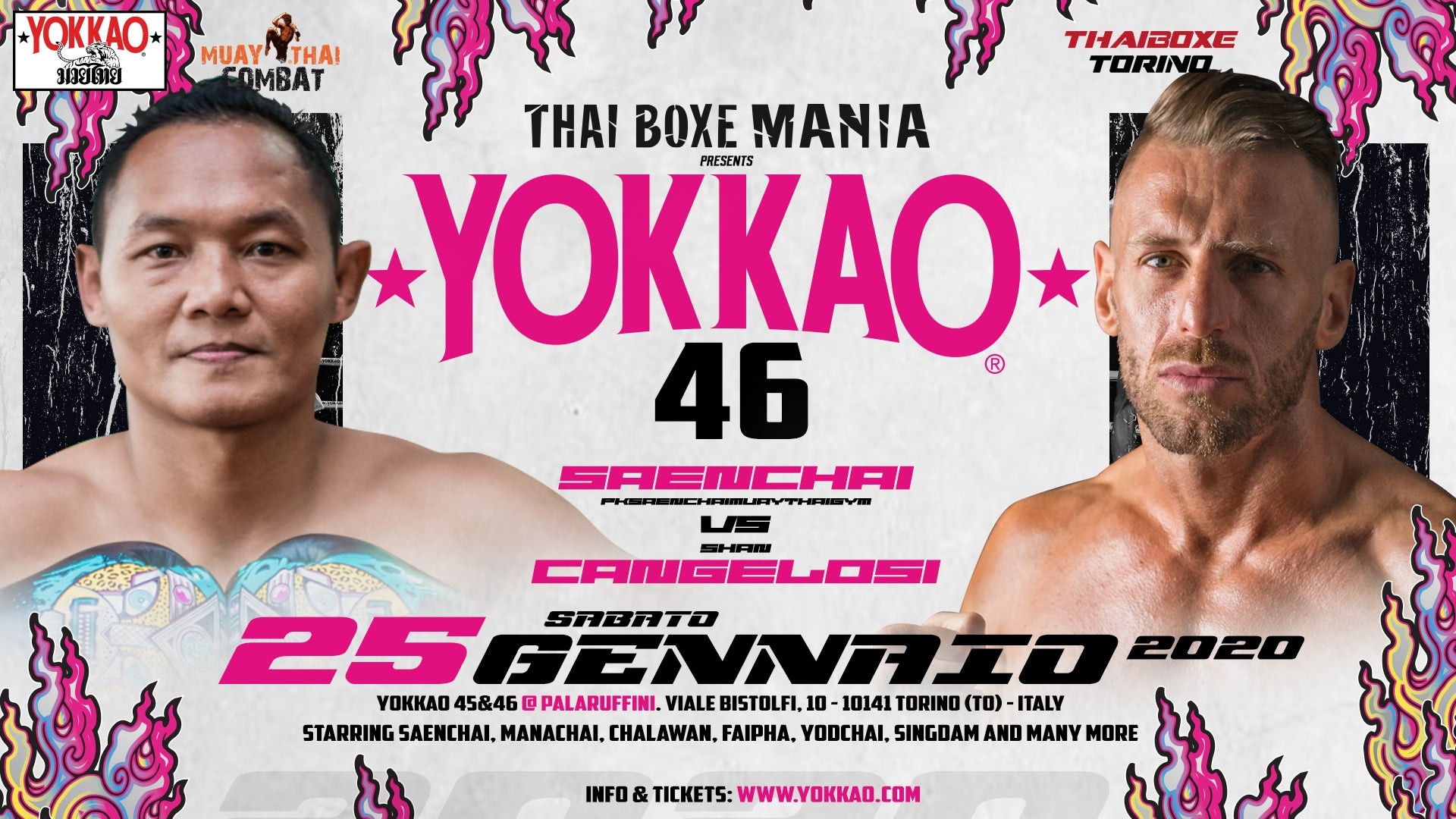 First Fight Announced: Saenchai vs Cangelosi 2 in Turin!