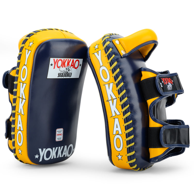Curved Kicking Pads Evening Blue/Gold Fusion - YOKKAO