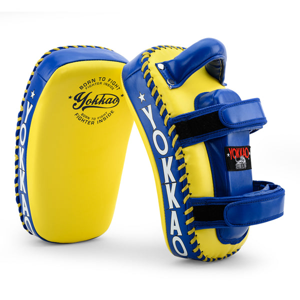 Kicking Pads Microfiber Leather Yellow/Blue