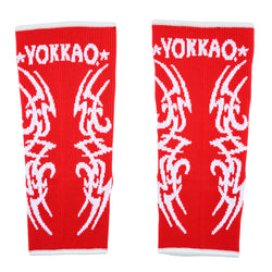 YOKKAO Tribal Muay Thai Ankle Guards Red - YOKKAO