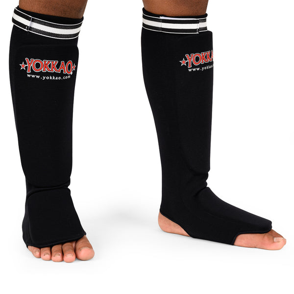 YOKKAO Kids Cotton Shin Guards Black - YOKKAO