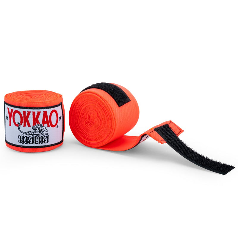 YOKKAO Muay Thai Hand Wraps Orange Neon - YOKKAO